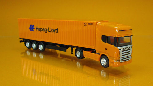 "Scania R TL Container-Sattelzug ""Hapag Lloyd"" Scale 1/120 TT"