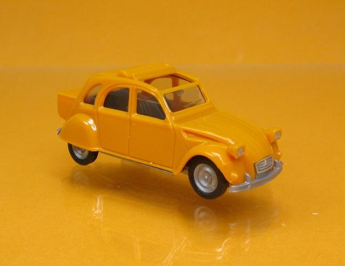 Citroen 2 CV mit Queue - orange / orange