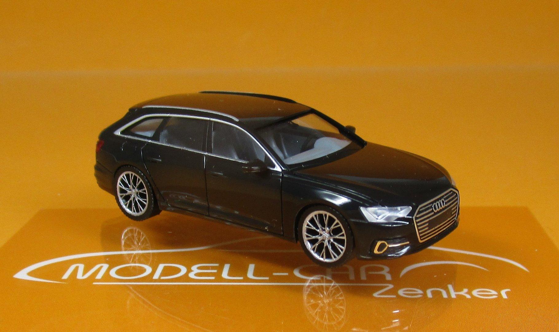 """Herpa 430685 # Audi A6 Avant in /"""" brillantschwarz /"""" mit zweifarbigen Felgen 1:87"""