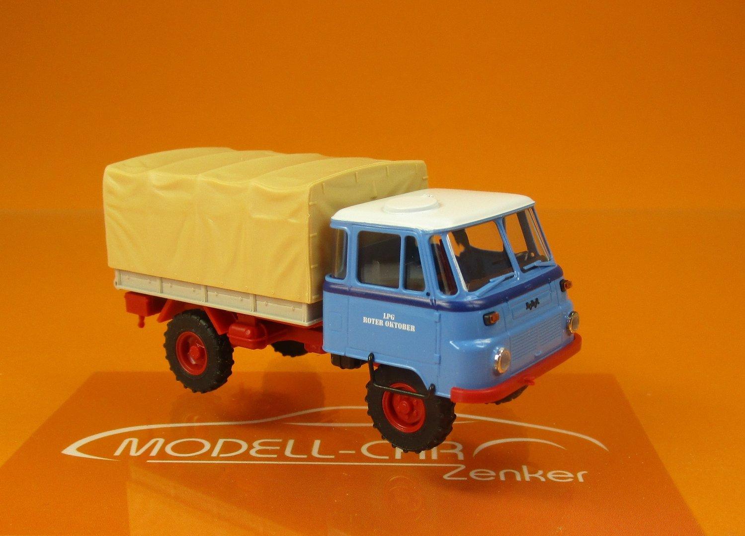 Busch MCZ 03 172 IFA Robur Lo 2002 A Holzpritsche LPG Roter Oktober Scale 1 87