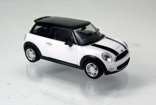Mini Cooper S, pepper white (1:87)