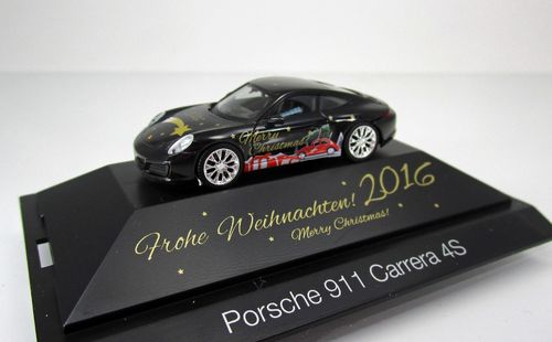 "Porsche 911 Carrera 4S ""Herpa-Christmas PKW 2016"" in 1:87"