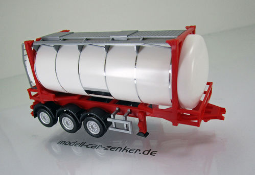 26 ft. Containerchassis mit Swapcontainer - weiß/rot