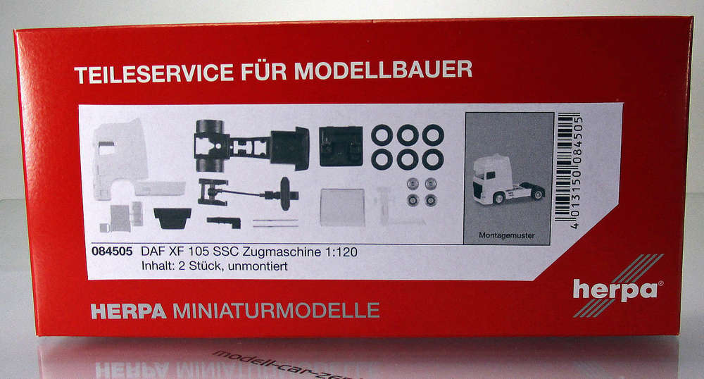 Herpa 084505 DAF XF 105 SSC Zugmaschine 2 Stück Scale 1 120 TT
