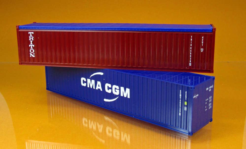 Herpa 076449 004 Zwei 40 Fuss Container Triton Cma Cgm
