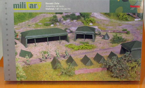 Herpa Military Bausatz Zelte/ Assembly kit tents H0