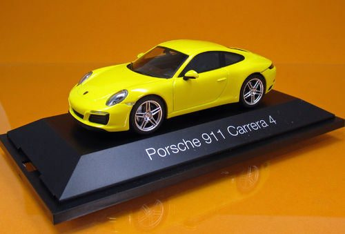 Porsche 911 Carrera 4 Coupé - racing gelb - Scale 1/43