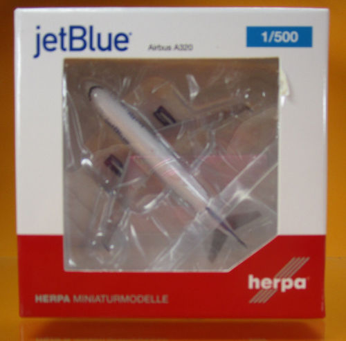"JetBlue Airways Airbus A320 - ""Tartan"" tail design - N508JL ""May the Force be with Blue"" (1:500)"