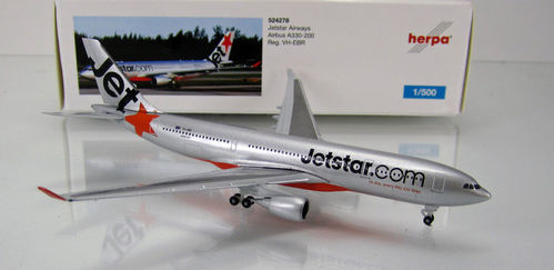 "JetStar Airways Airbus A330-200 "" VH-EBR "" Scale 1/500"