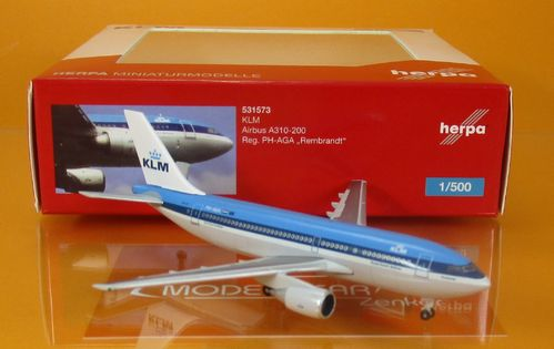 "KLM Airbus A310-200 -PH-AGA ""Rembrandt"" Scale 1:500"
