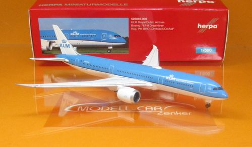 "KLM Boeing 787-9 Dreamliner - PH-BHO ""Orchidee/Orchid"" (1:500)"