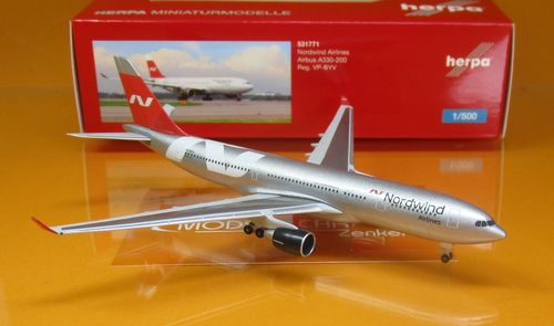 Nordwind Airlines Airbus A330-200 - VP-BYV (1:500)