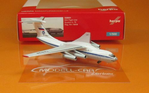224 Flight Unit State Airlines Ilyushin IL-76 - RA-78838 (1:500)