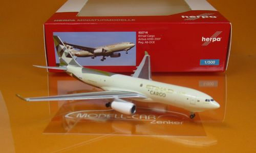 Etihad Cargo Airbus A330-200F - A6-DCE (1:500)