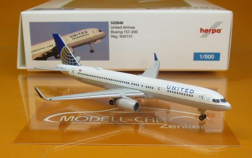 United Airlines Boeing 757-200 N34131 (1:500)