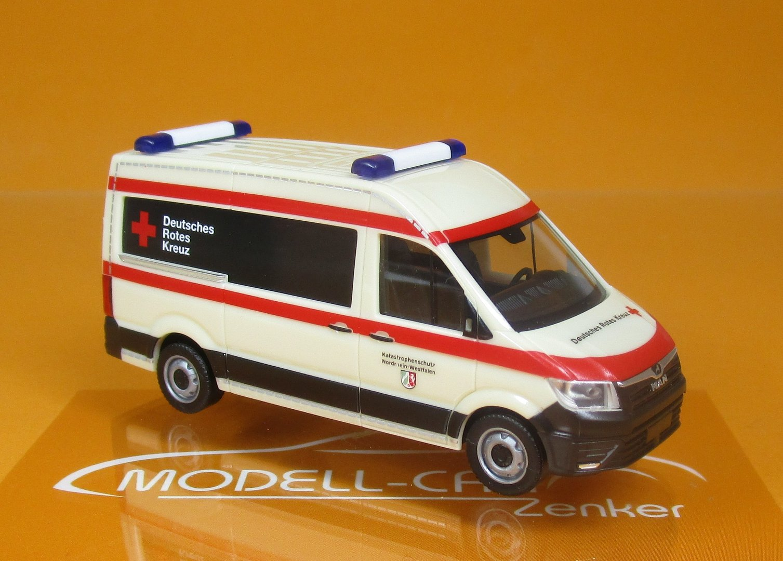 Herpa MAN TG-E Bus Hochdach Deutsches Rotes Kreuz Katastrophenschutz Nordrhein