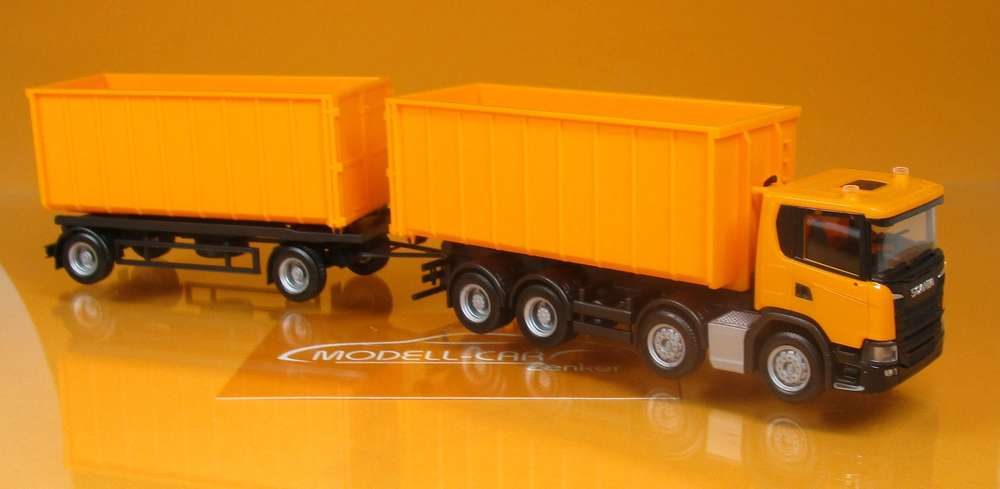 Herpa Camion Scania cg17 abrollmulden-Hz Bianco 936460