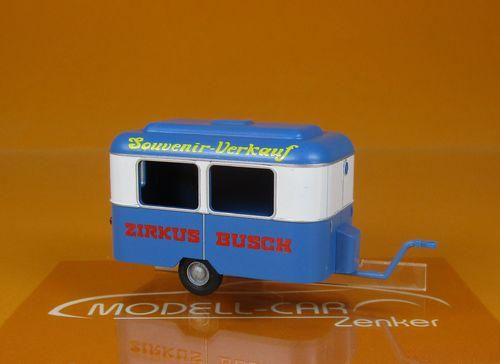 Busch MCZ 03 246 Fahrkartenverkaufsanhänger Nagetusch VEB LVB Leipzig Scale 1 87