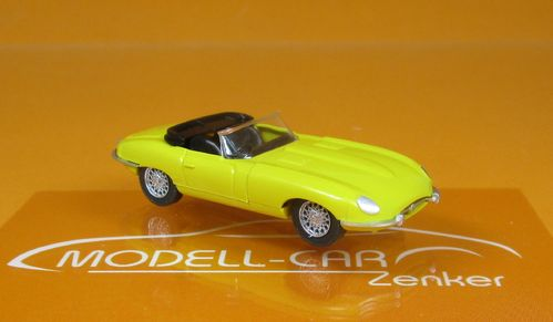 Jaguar E-Type Roadster gelb 1:87