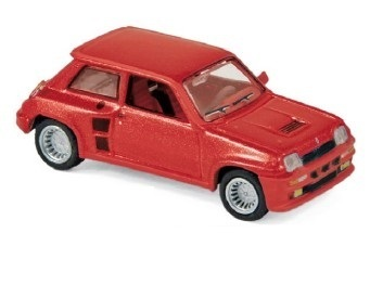 Renault R5 Turbo rot metallic 1980 Scale 1/87