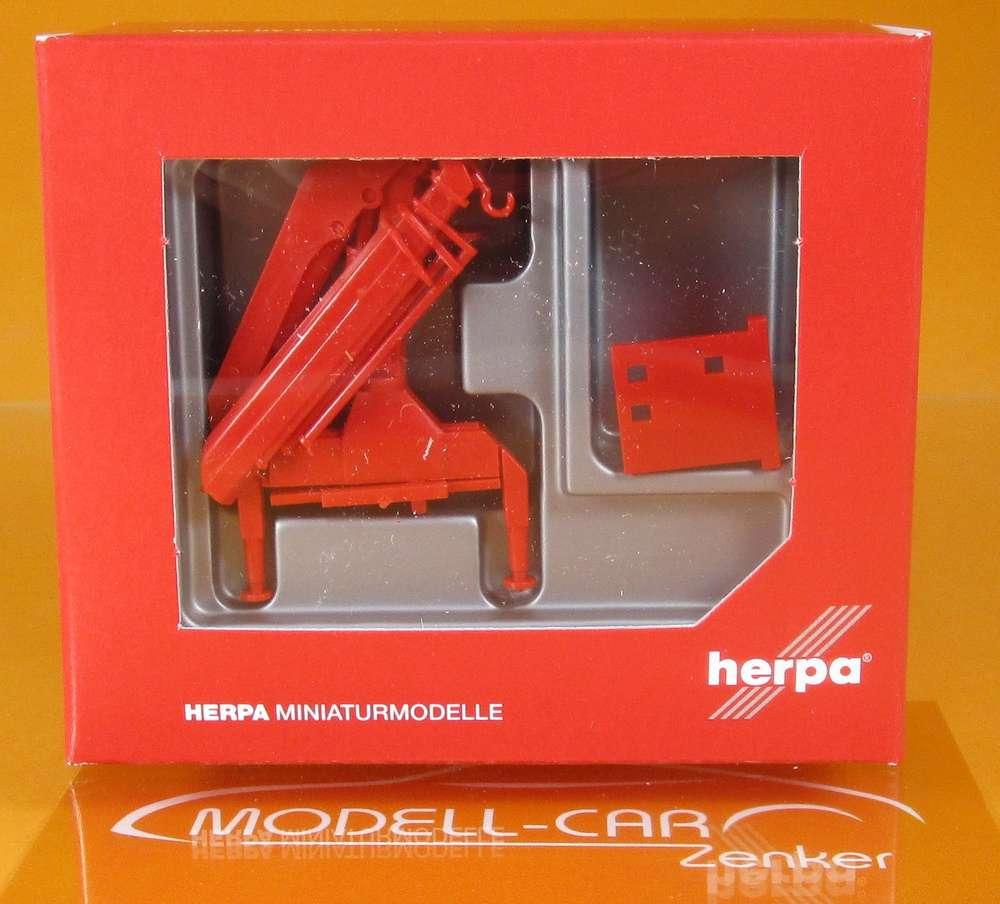 Herpa Heckladekran mit Haken Nr 051484 Hiab