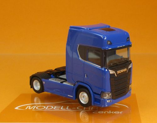 Scania CS HD V8 ZGM enzianblau 1:87