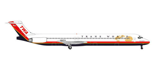 TWA - Trans World Airlines McDonnell Douglas MD-83 Long Beach (1:500)