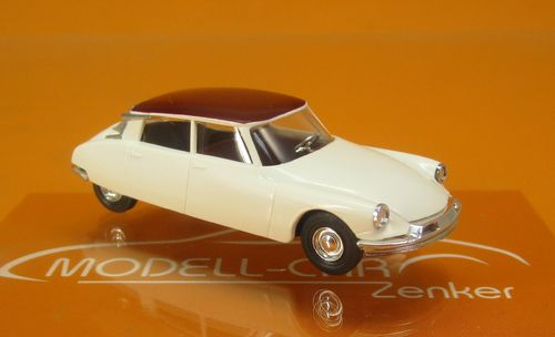 Citroen DS 19 cremeweiss/rotes Dach 1:87
