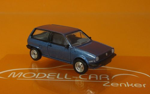 VW Polo II Fox (1981) blaumetallic 1:87