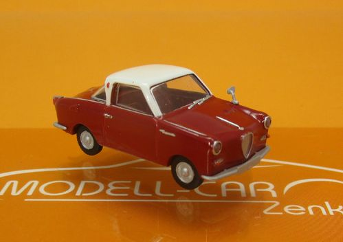 Goggomobil Coupe dunkelrot weiss 1:87