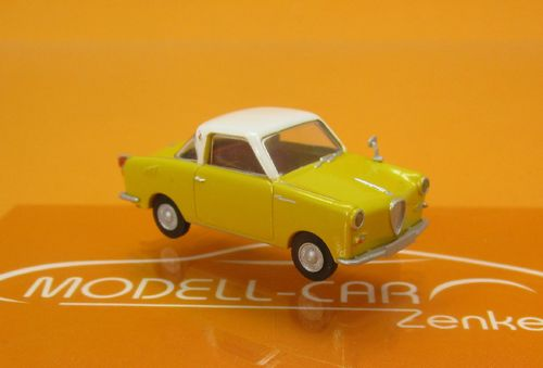Goggomobil Coupe gelb weiss 1:87