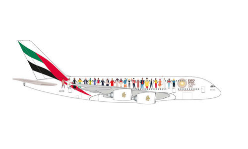 "Emirates Airbus A380 – A6-EVB ""Year of Tolerance"" 1:500"