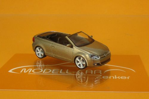 VW Golf VI Cabrio sweet date gold metallic 1:87
