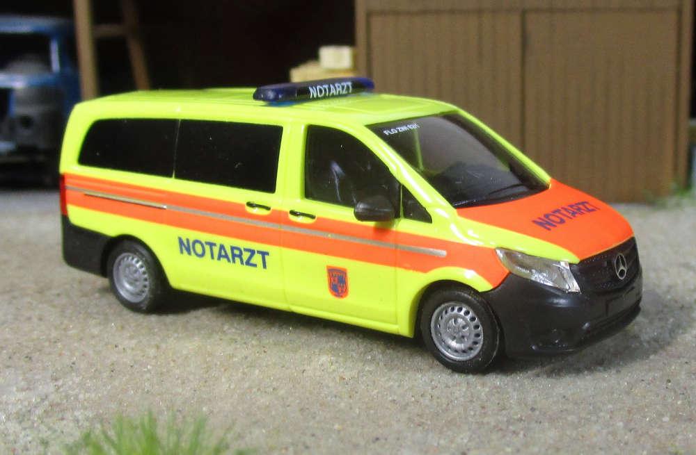 Busch MCZ MERCEDES VITO Nef pompiers Zwickau