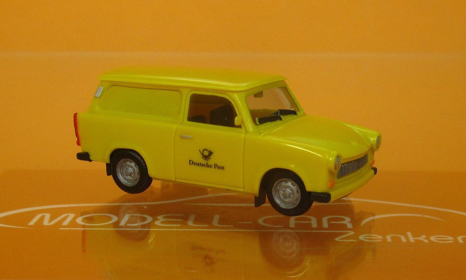 Herpa 942799-Trabant 601 S Universal-Deutshe post-RDA-Jaune